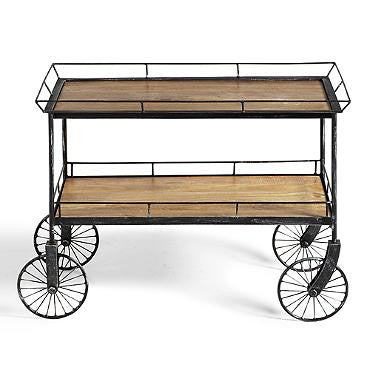Mango Wood & Iron Bar Cart