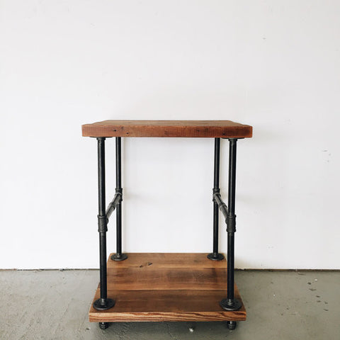 Industrial Metal & Wood Bar Cart