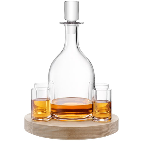 Lotta Decanter Set & Ash Base - Set of 2