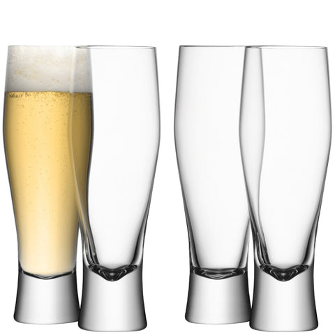 Classic Beer Glasses - Set of 4
