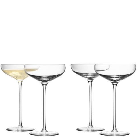 Wine Champagne Saucer - Set of 4