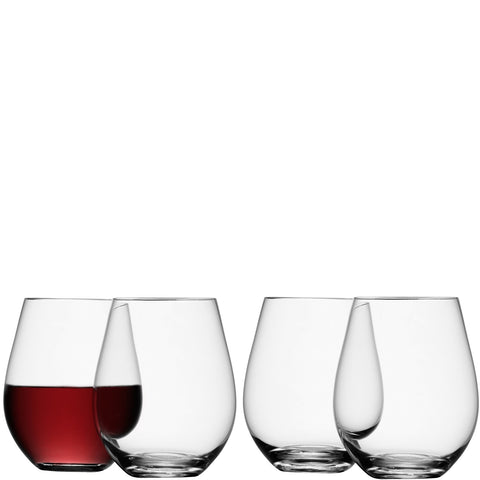 Wine Stemless Red Wine Glass - set of 4