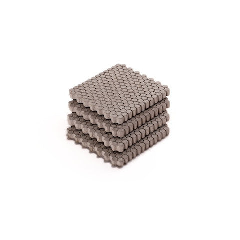 Industrial Chic Concrete Hexagon Pattern Coasters - Set of 4