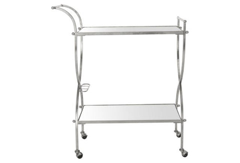 Luiza Bar Cart, Silver
