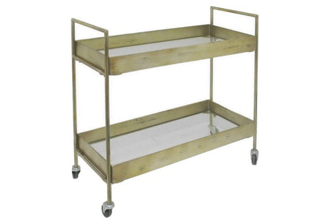 Larissa Bar Cart, Antiqued Gold