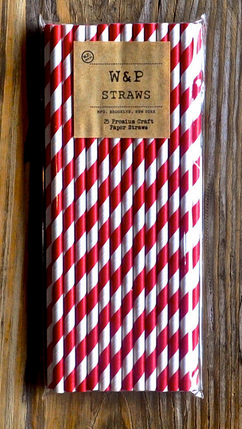 Striped Paper Straws - 25 Pack