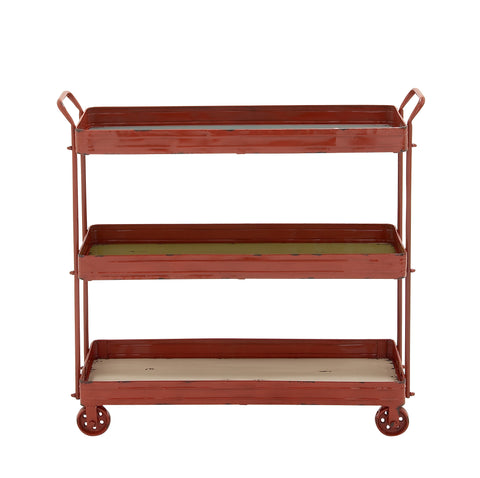 Rustic 3 Tier Bar Cart