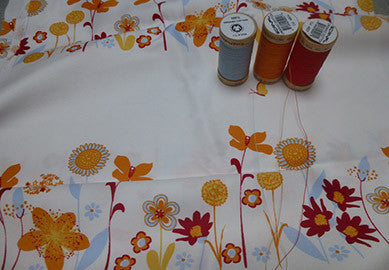 Natural Thread - Organic Sheets Flower Print