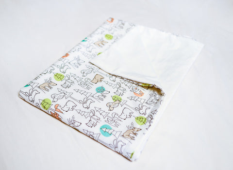 Organic Duvet Cover with Forest Animals - Crib and Twin