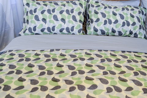 Organic Cotton Duvet Cover Set - Paisley