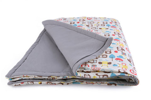 Organic Padded Baby Blanket - Winter Weight