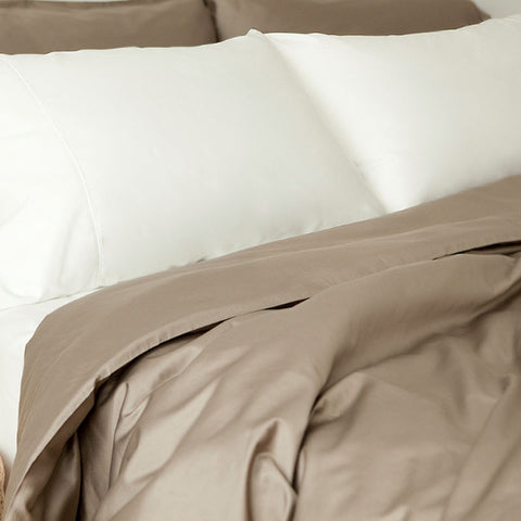 Organic Sateen Duvet Cover & Sham Set