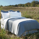 Sateen Pleated Organic Duvet Cover