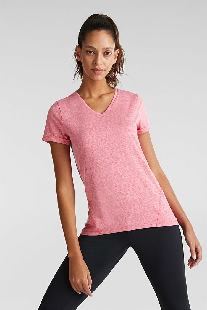 Active Pink Marl V Neck