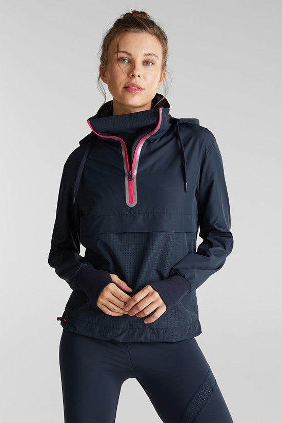 Active Hooded Slip On Jacket