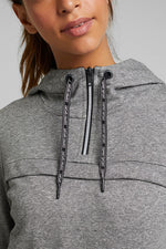 Load image into Gallery viewer, Attic Active Grey Marl Hooded Sweatshirt
