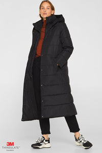 Esprit Quilted Coat with Hood