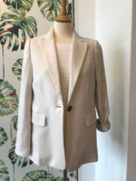 Load image into Gallery viewer, ese O ese - Linen Ecru Blazer