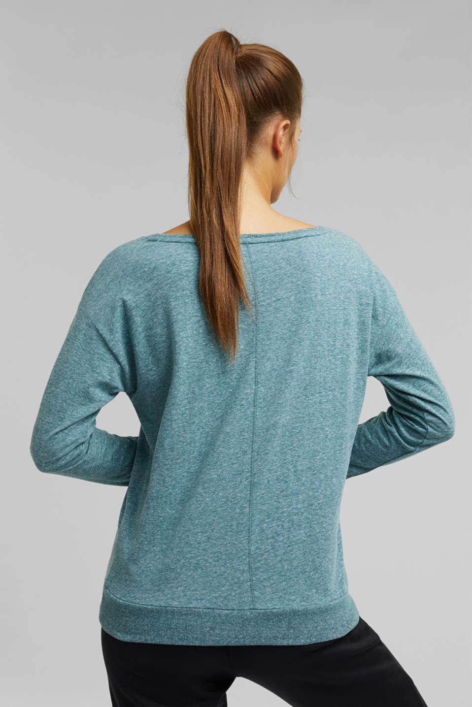 Active Marl Long Sleeved Top