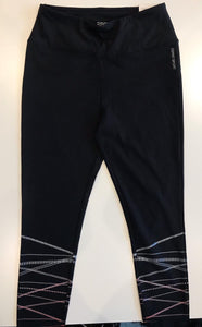 Active Leggings with Shiny Stripes