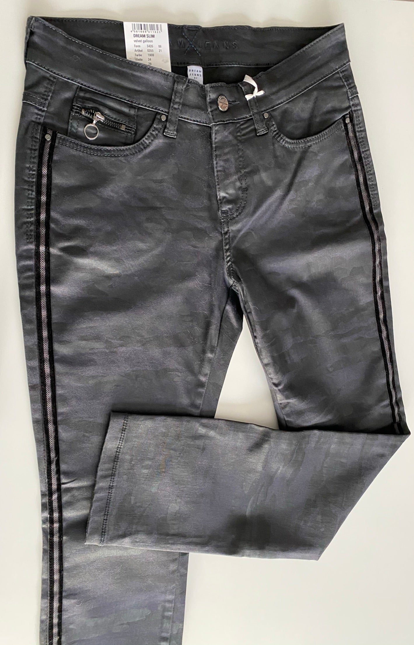 MAC - Dream Slim Jeans with Velvet Side Stitching