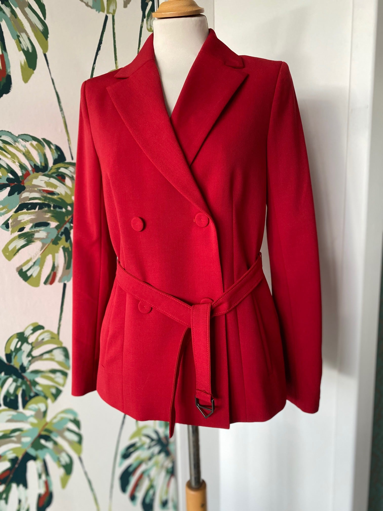 Beatrice B Double Breasted Red Jacket HALF PRICE
