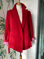 Load image into Gallery viewer, Beatrice B Double Breasted Red Jacket HALF PRICE