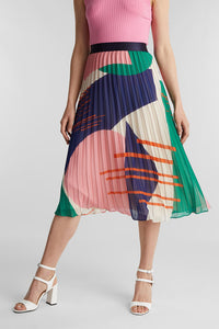 Esprit - pleated midi skirt
