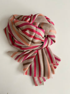 My Doris Striped Red/Pink Scarf