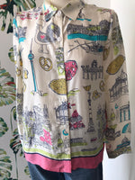 Load image into Gallery viewer, NICE THINGS - Retro print Flowing Shirt