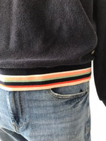 Load image into Gallery viewer, BELLEROSE - Cropped Sweatshirt with Trim