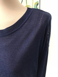 NICE THINGS - Fine Knit Sweater Navy