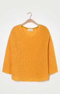 Amercian VIntage Open Weave Mango Jumper REDUCED