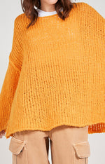 Load image into Gallery viewer, Amercian VIntage Open Weave Mango Jumper REDUCED