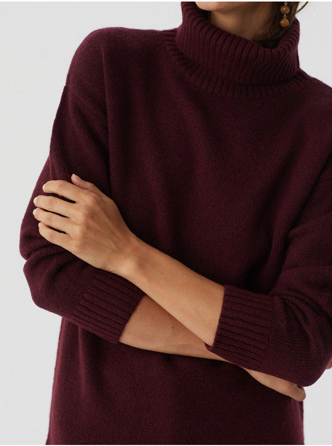 Nice Things Oversized Polo Neck Jumper