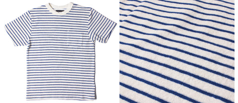 womens short sleeve t-shirt breton stripe ethical sustainable eco friendly crew neck towelling