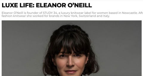STUDY 34 luxe magazine eleanor o'neill knitwear sustainable women