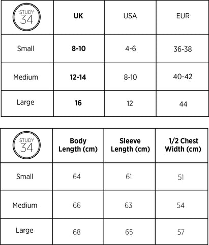 womens knitwear size guide STUDY 34