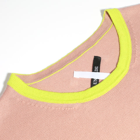 women's personalised knitwear made to order pink yellow