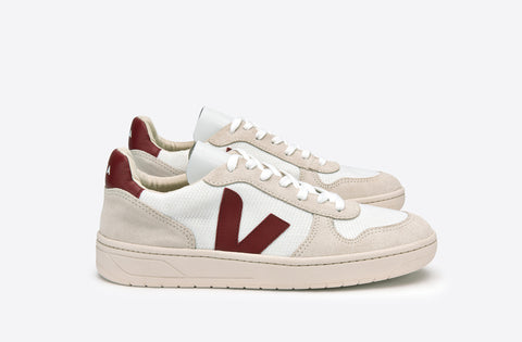 ethical sustainable shoes women veja white red