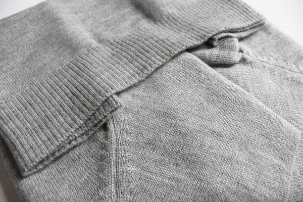 alpaca knitwear women ethical sustainable fashion grey