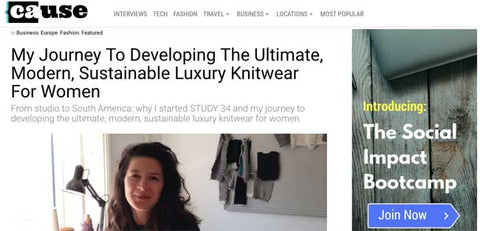 causeartist interview ethical knitwear