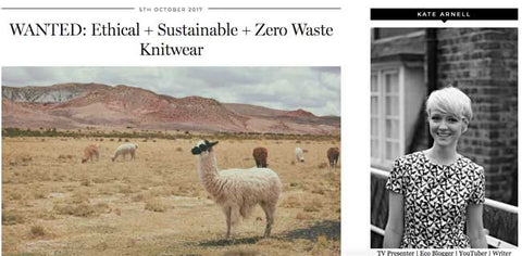 eco boost ethical sustainable fashion british knitwear