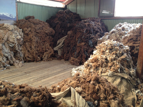 alpaca fleeces sorting peru sustainability