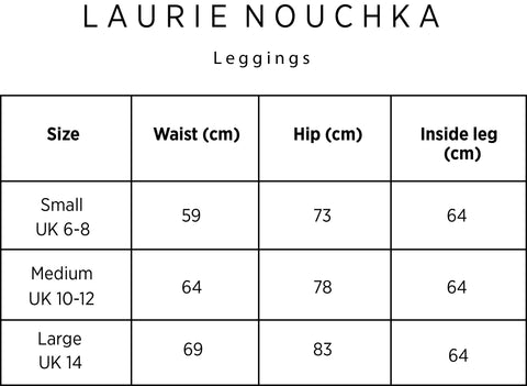 laurie nouchka size chart