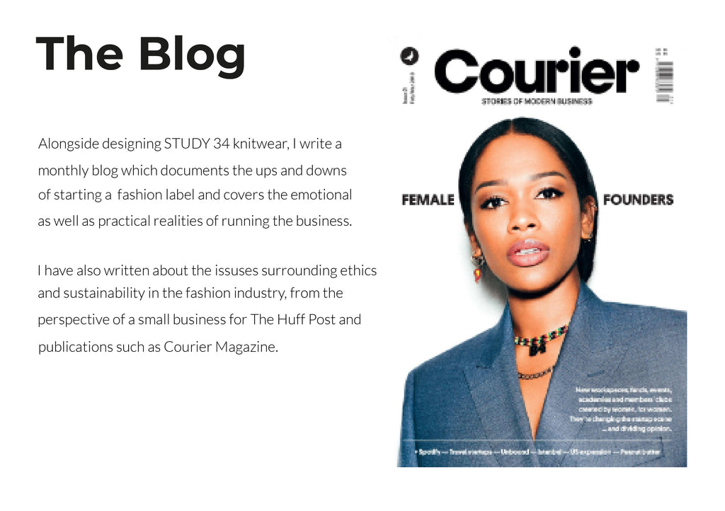 The blog fashion label business female entrepreneurship start-up