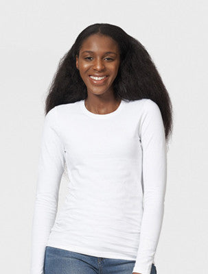 women's long sleeve t-shirt white cotton