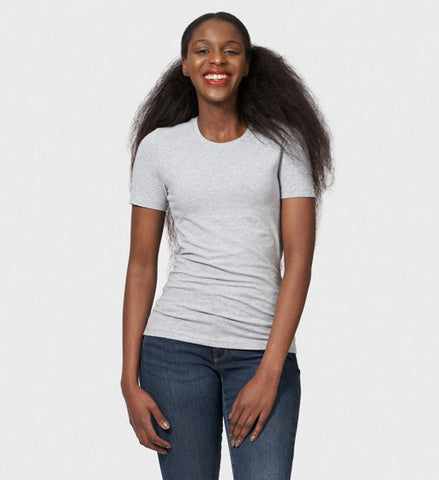 women's grey cotton t-shirt organic