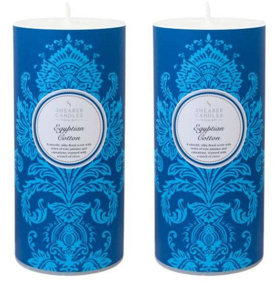 Egyptian Cotton Scented Pillar Candle 2 Pack