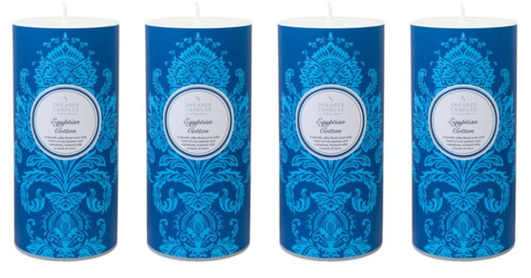Egyptian Cotton Scented Pillar Candle 4 Pack